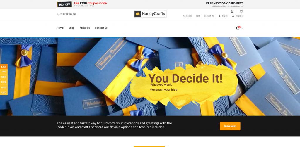 KandyCrafts | eCommerce Website